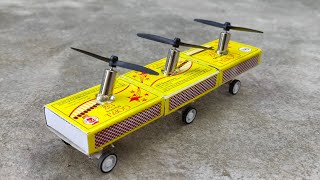 how to make powerful matchbox helicopter model diy car