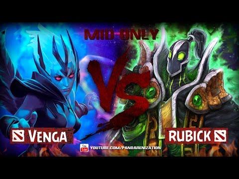 видео: vengeful spirit vs rubick [Битва героев mid only] dota 2