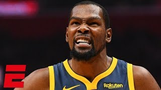 Kevin Durant scores 33 points, fouls out in Warriors