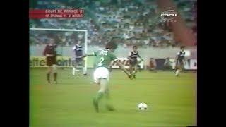 ASSE 1-2 Bastia - Finale de la Coupe de France 1980-1981