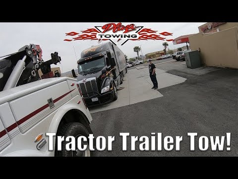 Towing A Tractor Trailer to Fontana