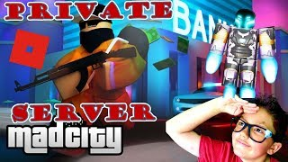🍩 Live Roblox MadCity Private Server with Fans! Kid Gamer MinetheJ Lets play family friendly!