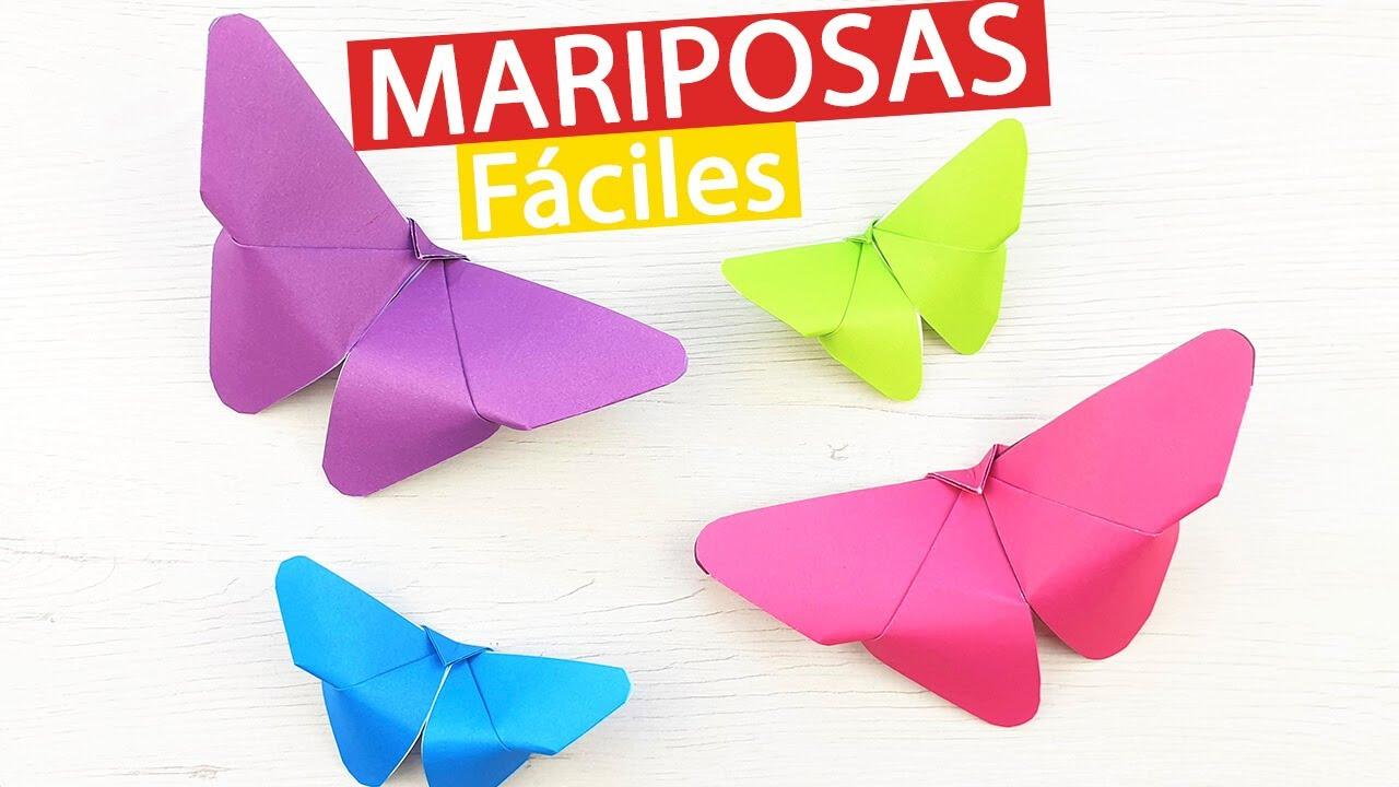 🦋 Cómo hacer mariposas de papel fácil y rápido origami