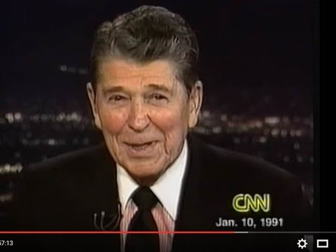 President Ronald Reagan on Larry King 1-10-1991 Full Hour