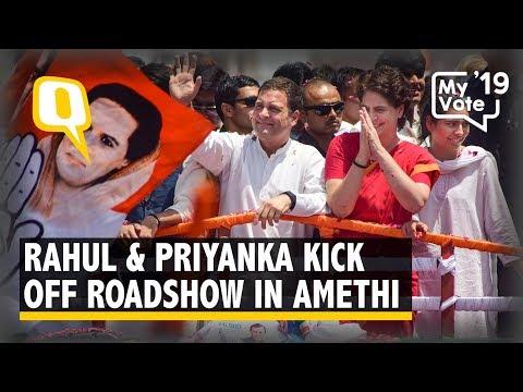 Rahul Gandhi & Priyanka Gandhi Hold Roadshow in Amethi