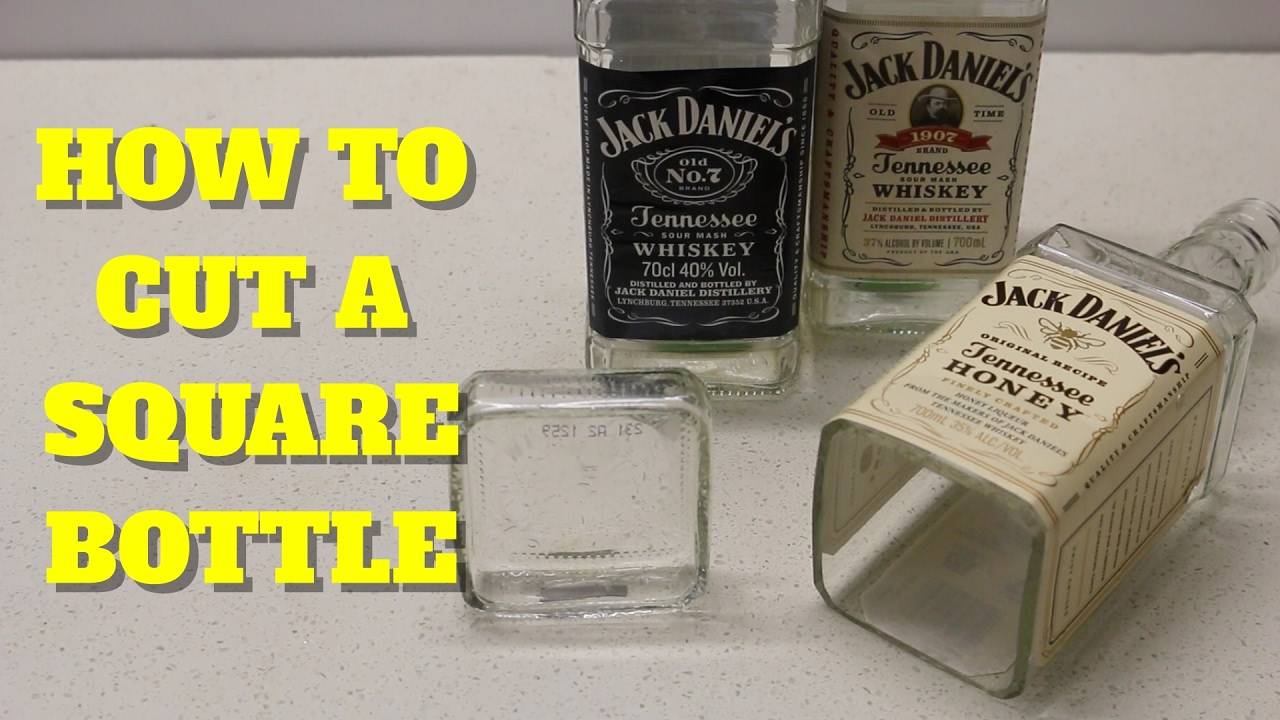 how to cut a square glass jd bottle doovi