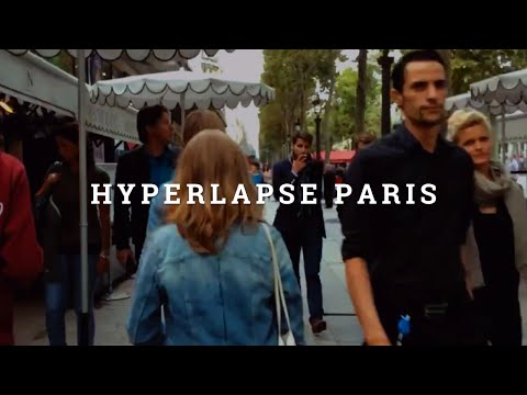 Hyperlapse Champs-Elysees Paris
