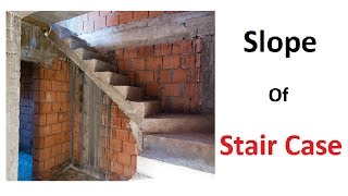 How to find the slop(Angle) of stair case