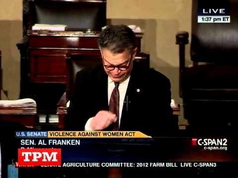 Al Franken Weeps On Senate Floor While Discussing