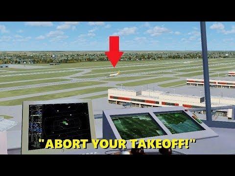TROLLING in the Air Traffic Control Tower (Atlanta Int'l) - Flight Simulator X