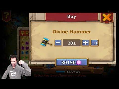 Rank 1 Bonanza Rolling 30,000 Gems Thunders Gods GIFT Castle Clash