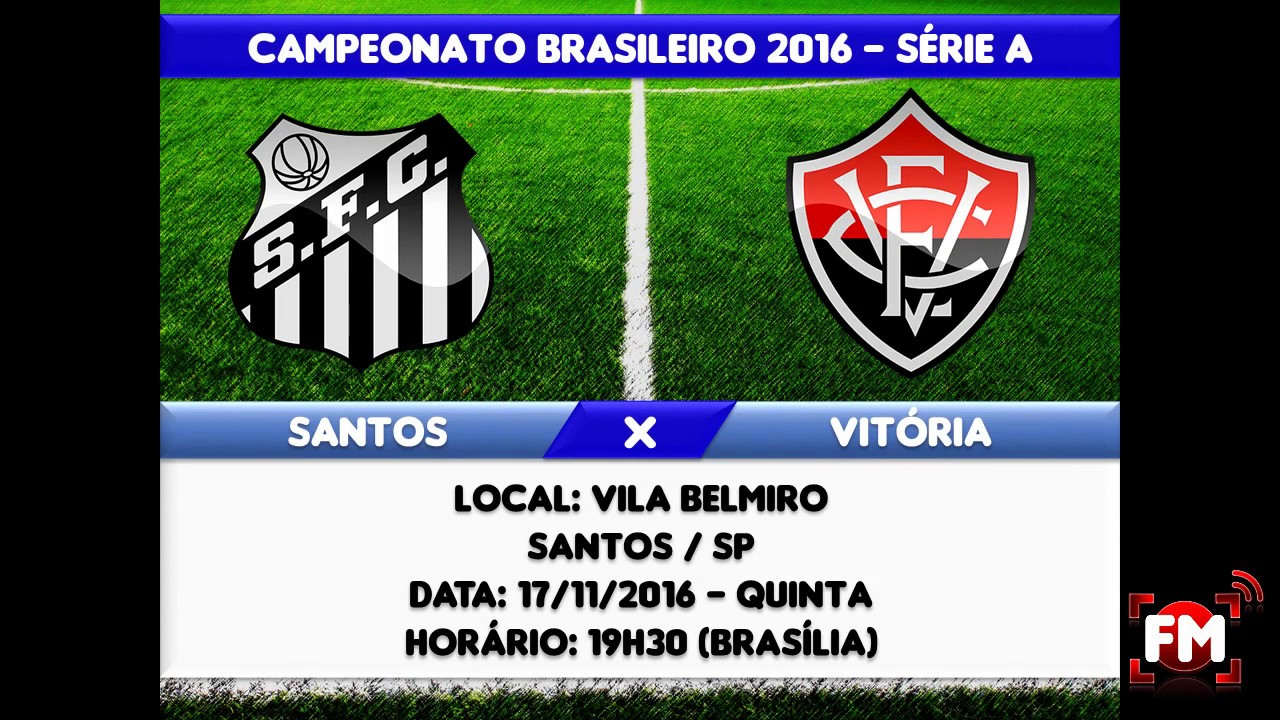 SANTOS X VITÓRIA AO VIVO - CAMPEONATO BRASILEIRO - 35ª RODADA - YouTube bf3714d74f806