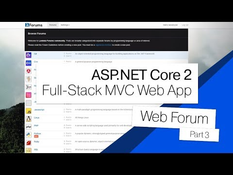 ASP.NET Core 2 MVC Forum | 03 | Creating Models