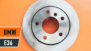 Jak wymienić przednie tarcze hamulcowe i przednie klocki hamulcowe w BMW 3 E36 TUTORIAL | AUTODOC