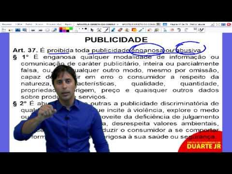 Direito do Consumidor – Publicidade e Oferta no CDC - Prof. Duarte Jr. - Aula 10/14.