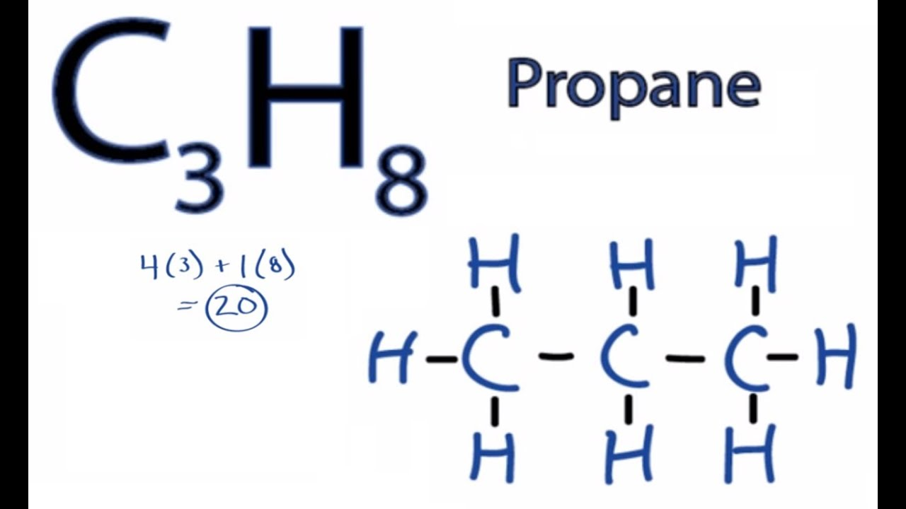 how to draw the lewis structure for c3h8 propane  [ 1280 x 720 Pixel ]