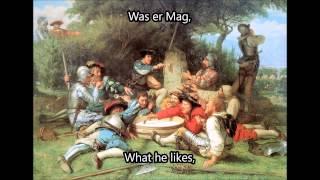 Vom Barette schwankt die Feder [English Translation]