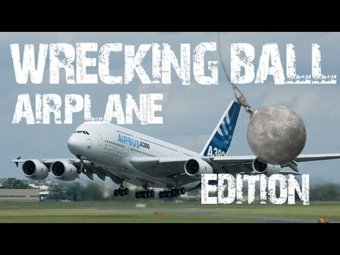 PARODY WRECKING BALL: AIRPLANE EDITION!