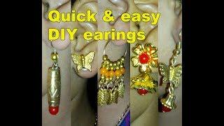 TOP 5 DIY earrings | jewelry making | how to make fancy earrings