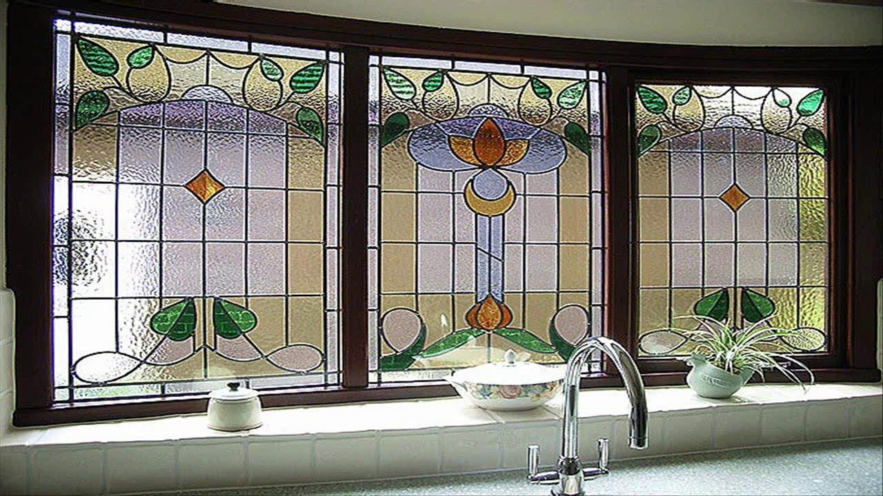 Stained Gl Bathroom Window Designs