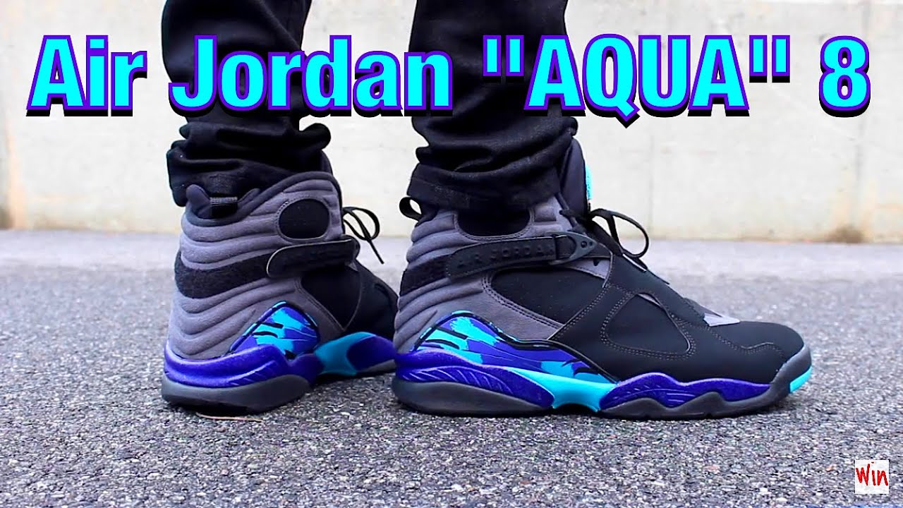 nike air jordan 8 aqua og youtube