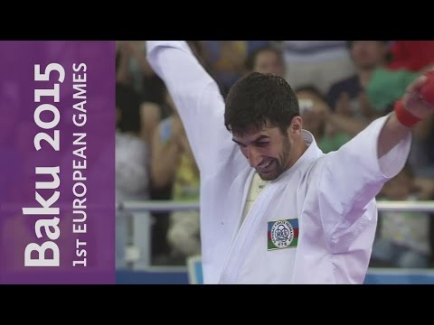 Firdovsi Farzaliyev Wins Azebaijan's First Gold | Karate | Baku 2015