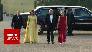 Trump arrives at Blenheim Palace - BBC News thumbnail