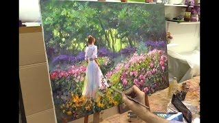 Урок живописи маслом. Мастер-класс по работе Ричарда Джонсона. Oil painting .
