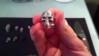 John Fitzen Skull Ring and John Fitzen Punisher Skull Bead Plus some other Great Skull Beads.