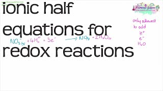 Balancing ionic half equations for redox reactions | A-Level Chemistry