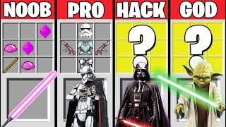Minecraft Battle: STAR WARS CRAFTING CHALLENGE - NOOB vs PRO vs HACKER vs GOD / Animation