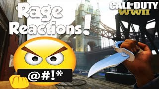 FUNNY KNIFE ONLY RAGE REACTIONS #3 (Epic Call Of Duty WW2 Rage Moments)