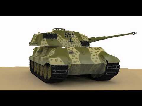 King Tiger tank 3d model animation  Sketchup Sketchyphysics TwilightRender