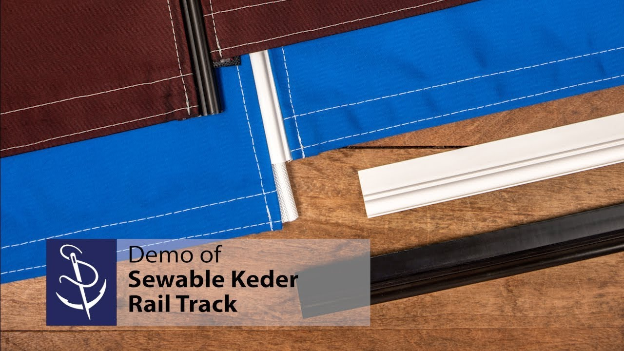 Demo Of Sewable Keder Rail Track Youtube