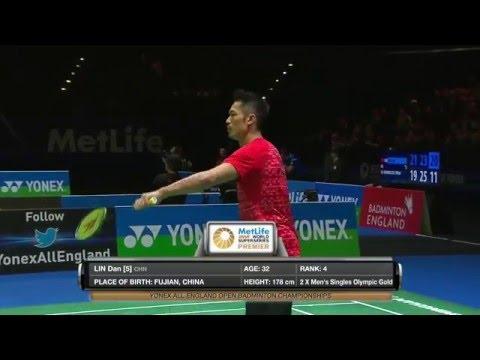 Yonex All England Open 2016 | Badminton QF M5-MS | Jan O Jorgensen vs Lin Dan
