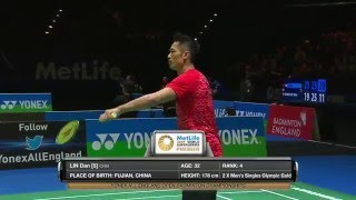 yonex all england open 2016   badminton qf m5 ms   jan o jorgensen vs lin dan