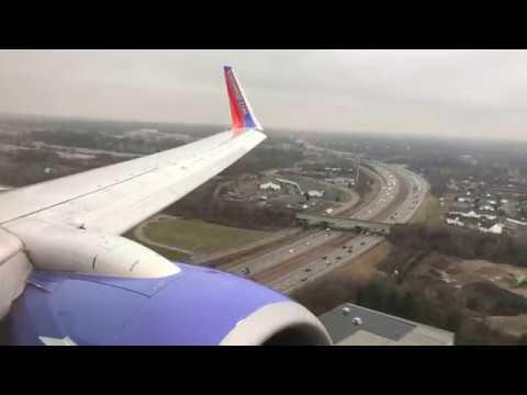 [HD] Southwest Airlines Morning arrival into John Glenn Columbus Airport