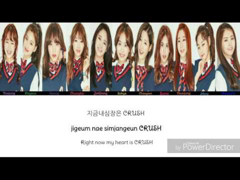 I.O.I - Crush (studio.ver ) color coded lyrics [rom /han /eng ]