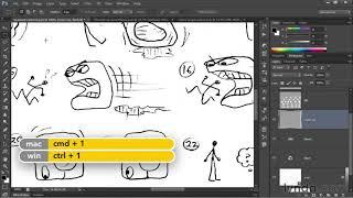 Photoshop tutorial: Turning a pencil sketch into digital ink   lynda.com, Deke