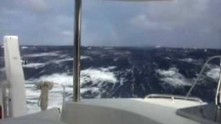 46' Catamaran in big seas