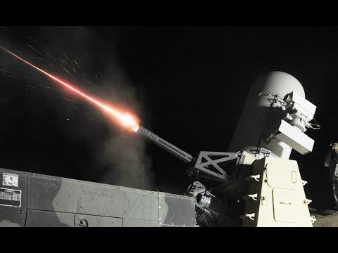 C-RAM: 20mm cannon fires 4,500 Round/Minute to intercept enemy artillery