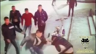 Attack with Multiple Victims Caught On Camera   Active Self Protection