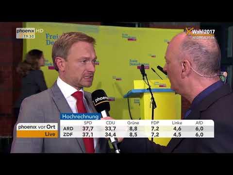 Christian Lindner zum Ergebnis der Landtagswahl in Niedersachsen am 15.10.17