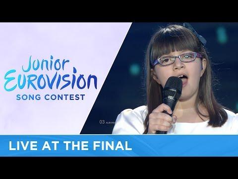 Klesta Qehaja - Besoj (Albania) LIVE 2016 Junior Eurovision
