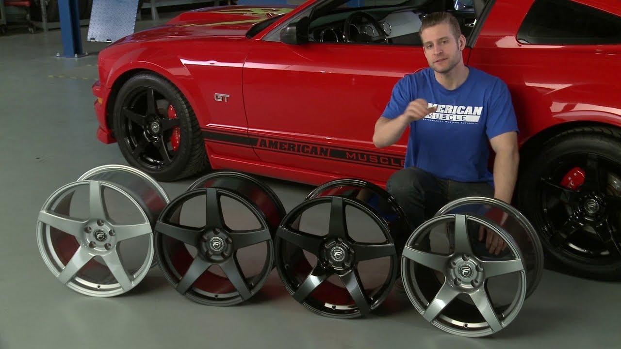 Mustang Forgestar CF5 Monoblock Wheels - Gunmetal, Black ...