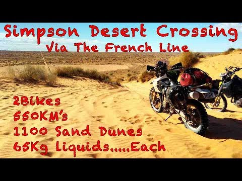 Unsupported Simpson Desert crossing via French Line on Motorbikes