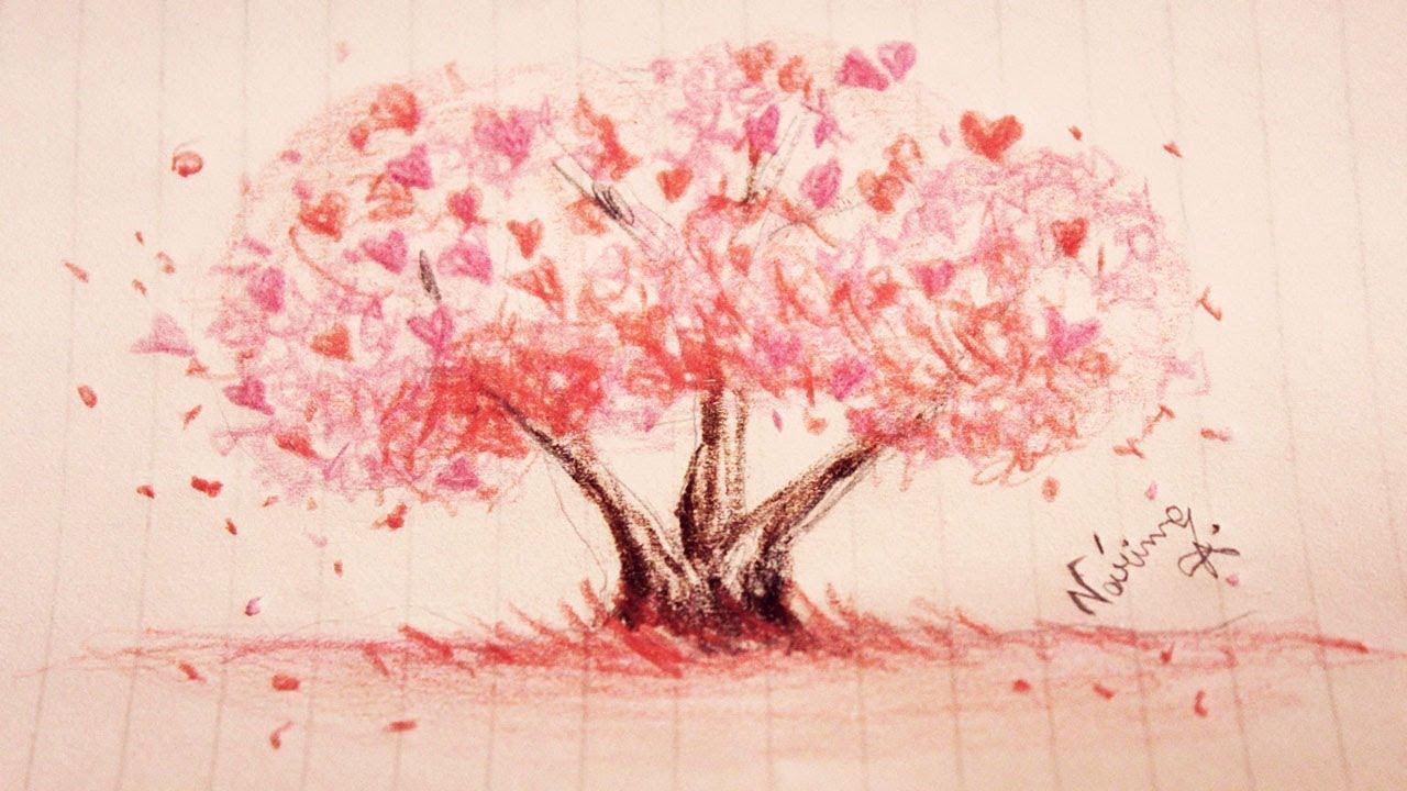 Diy Como Desenhar Arvore De Primavera Youtube