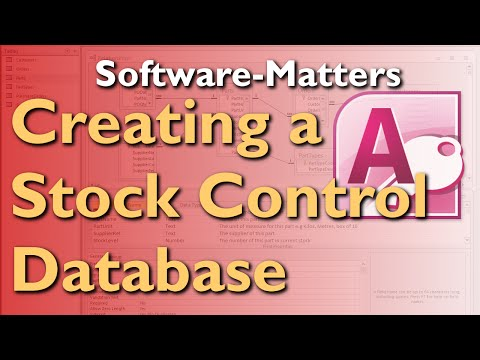 How to Create a Stock Management Database in Microsoft Acces