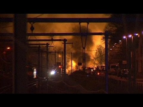 Belgian village locked down after chemical blaze on train