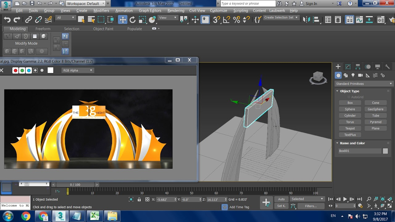 Tutorial On Modeling A Basic Stage Design In 3dsmax Youtube